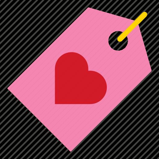 heart, love, romance, tag, valentine icon