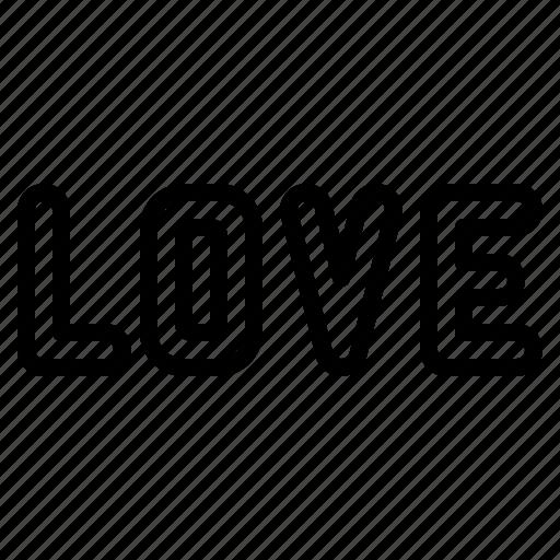 alphabet, heart, love, romance, valentine icon