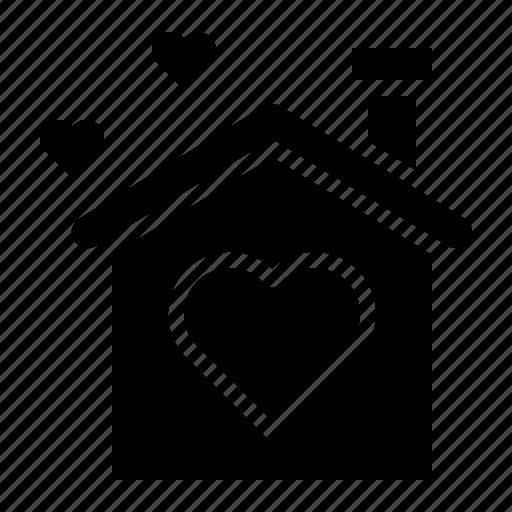 happy, home, house, love, valentine icon