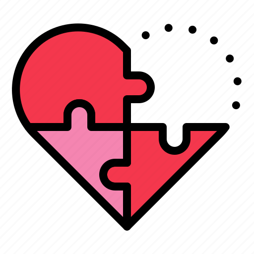 heart, jigsaw, love, missing, puzzle, valentine icon