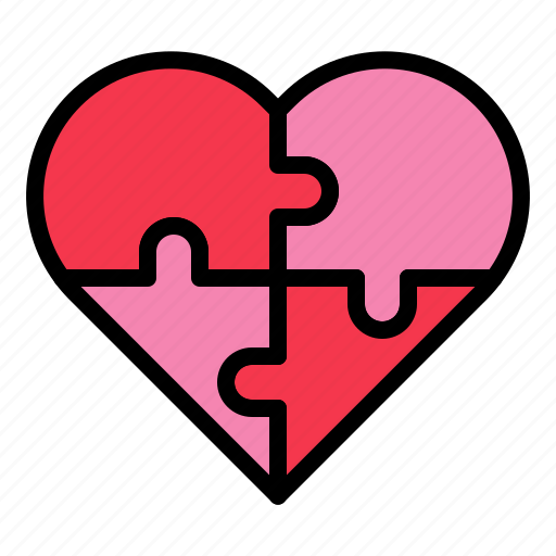 heart, jigsaw, love, puzzle, valentine icon