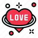 heart, love, planet, valentine icon
