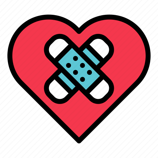 bondage, heart, injury, love, valentine icon
