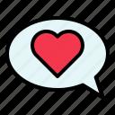 buble speech, chat, love, talk, valentine