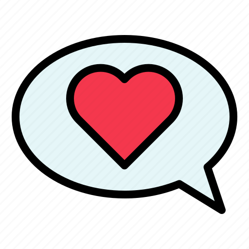 buble speech, chat, love, talk, valentine icon