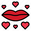 kiss, lips, love, mouth, valentine icon