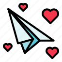 love, paper plane.fly, valentine icon