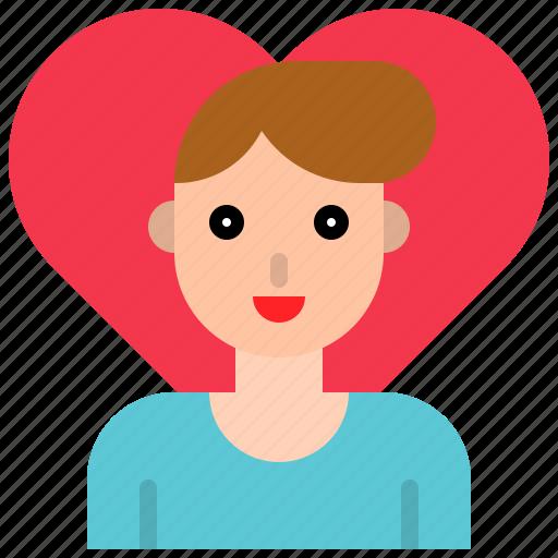 love, male, man, romance, valentine icon