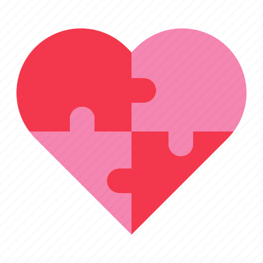 heart, jigsaw, love, puzzle, romance, valentine icon