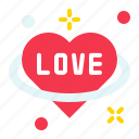 heart, love, planet, romance, valentine icon