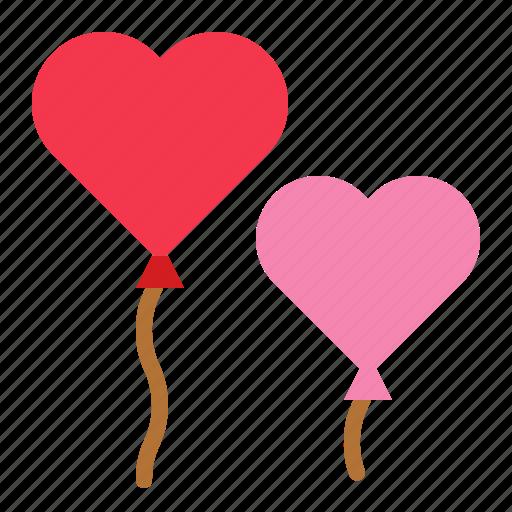 balloon, love, romance, toy, valentine icon
