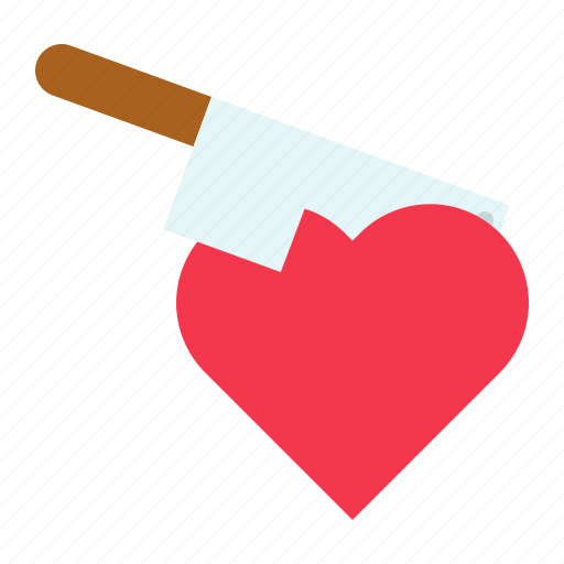 assault, heart, injury, knife, love, romance, valentine icon