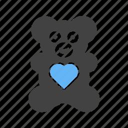 bear, childhood, love, teddy, toy, valentine, valentines gift icon