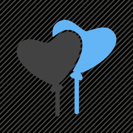 balloon, balloons, celebration, celebratory, decoration, heart balloon, valentine icon