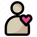 color, contact, hurt, love, people, valentine icon