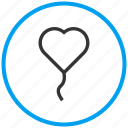 affection, bookmark, heart balloon, heartbeat, love, romance, valentine icon