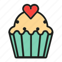 bakery, cake, cupcake, dessert, sweat icon