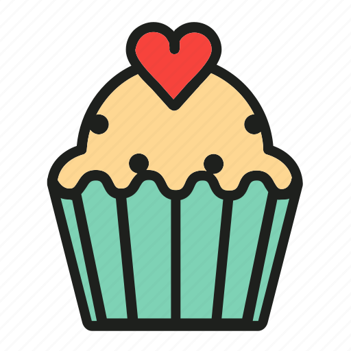 bakery, cake, cupcake, dessert, sweat icon
