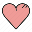 adore, heart, like, love, valentine icon