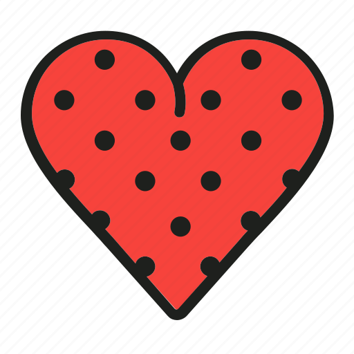 dots, heart, like, love, passion icon