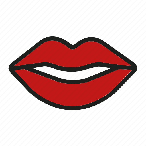 kiss, lips, love, mouth, smile icon
