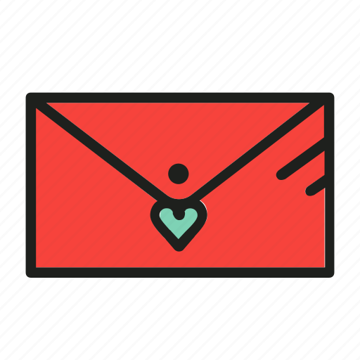 card, letter, love, mail, post icon