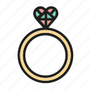 briliant, gift, love, ring, wedding icon