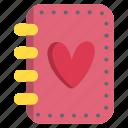 book, diary, heart, love, valentine