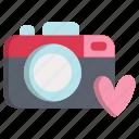 camera, heart, love, photo, picture, valentine