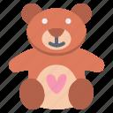 bear, heart, love, teddy, teddy bear icon