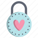 day, heart, love, padlock, valentines icon