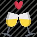 cheers, day, drink, glass, heat, love, valentines