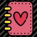 book, day, diary, valentine