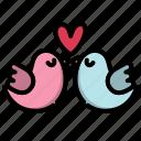 bird, couple, day, heart, love, valentine