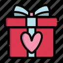 box, day, gift, present, valentine icon