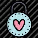 day, heart, love, padlock, valentine