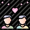 couple, valentine, heart, love, pair, romantic, wedding icon
