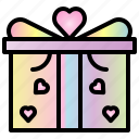 gifts, valentine, heart, love, box, package, gift