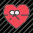 gift, box, heart, love, valentine, romance, valentines