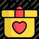 gift, present, box, heart, love, valentine, gift pack