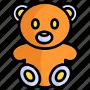 teddy-bear, bear, toy, kids, gift, fun