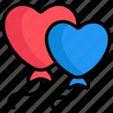 balloons, heart shape, heart, air, decoration, valentine, celebration