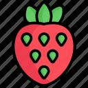 strawberry, food, fruit, healthy, fresh, summer, dessert