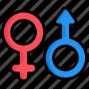 gander, sign, female, male, symbol, girl, arrow