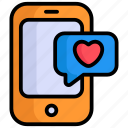 mobile massage, love, chat, communication, bubble, smartphone
