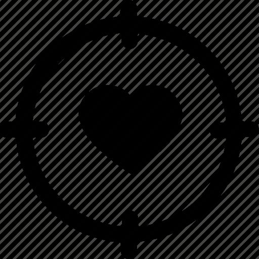 Day, heart, love, target, valentine, valentine day icon - Download on Iconfinder