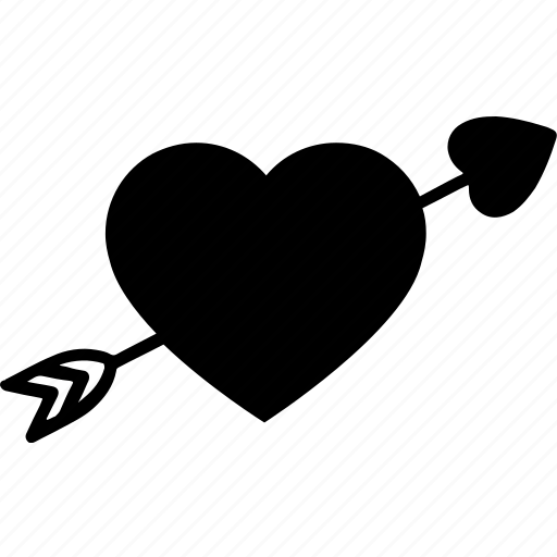 arrow, day, eros, heart, love, valentine, valentine day icon