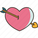 arrow, heart, love, cupid, romantic