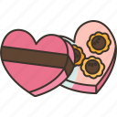 chocolate, sweet, dessert, gift, valentine