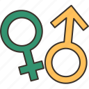 gender, sign, male, female, sexual